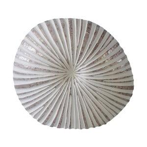 Bílá váza Stardeco Shell, 44 cm