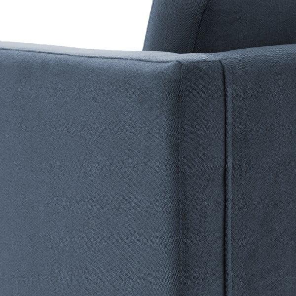 Světle modré křeslo Vivonita Sondero, černé nohy