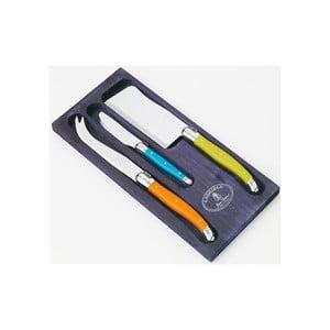 Sada 3 nožů na sýry v dřevěném balení Jean Dubost Trendy
