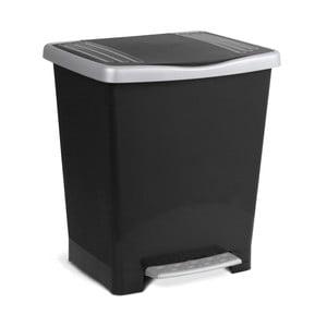 Černý pedálový odpadkový koš Ta-Tay Millenium, 15l