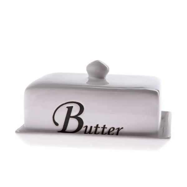 Biela keramická nádoba na maslo Dakls