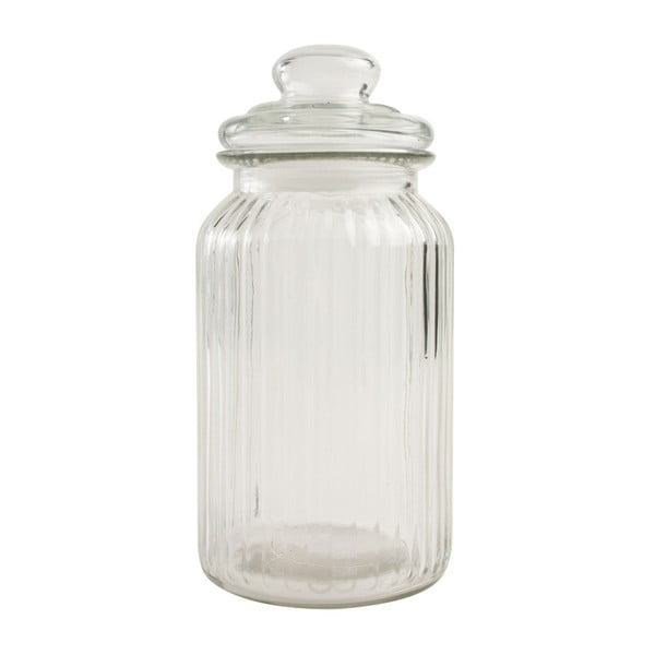 Recipient din sticlă T&G Woodware Ribbed, 1,3 l