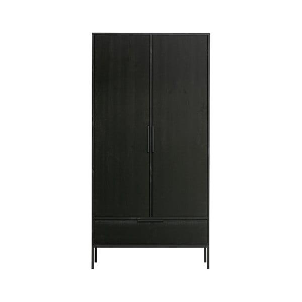 Černá šatní skříň WOOOD Adam