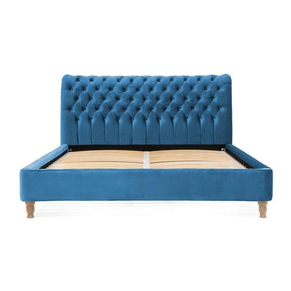 Tyrkysová posteľ z bukového dreva Vivonita Allon, 180 × 200 cm