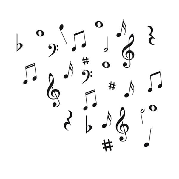 Dekorativní samolepka Music Notes