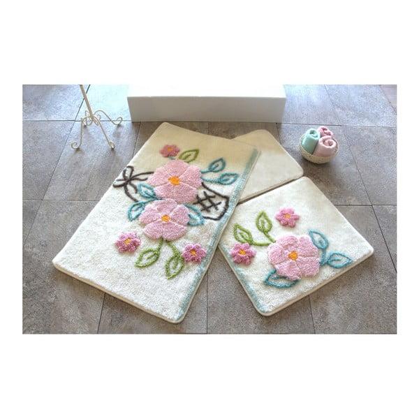 Zestaw 3 dywaników łazienkowych Alessia Bahce Ecru