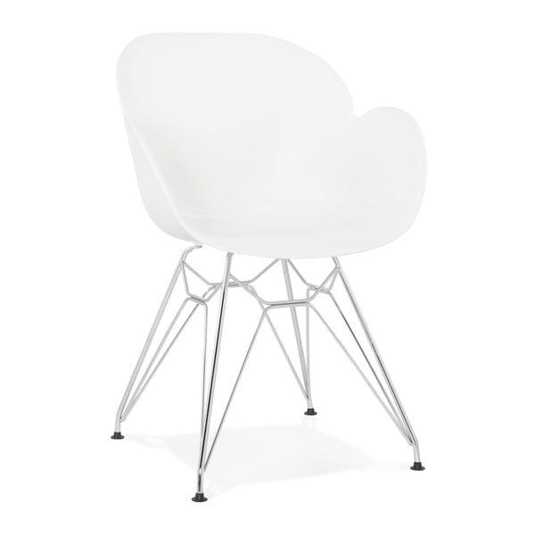Biela jedálenská stolička Kokoon Chipie