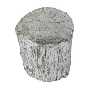 Taburet Kare Design Tronco, ⌀ 40 cm, argintiu