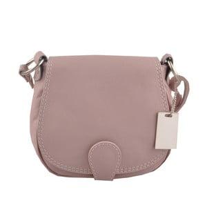 Růžová kožená kabelka Matilde Costa Gisstel