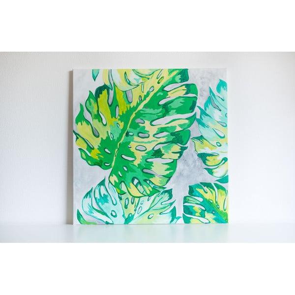 Obraz Monstera Leaves, 70x70 cm