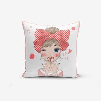 Față de pernă Minimalist Cushion Covers Cute Girl, 45x45cm de la Minimalist Cushion Covers
