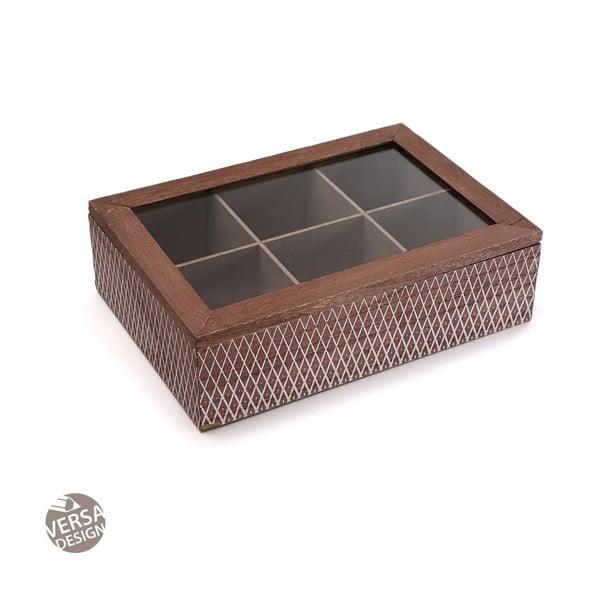 Dřevěná krabička na čaj VERSA