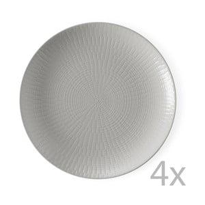 Sada 4 dezertních talířů Granaglie Gris, 21 cm