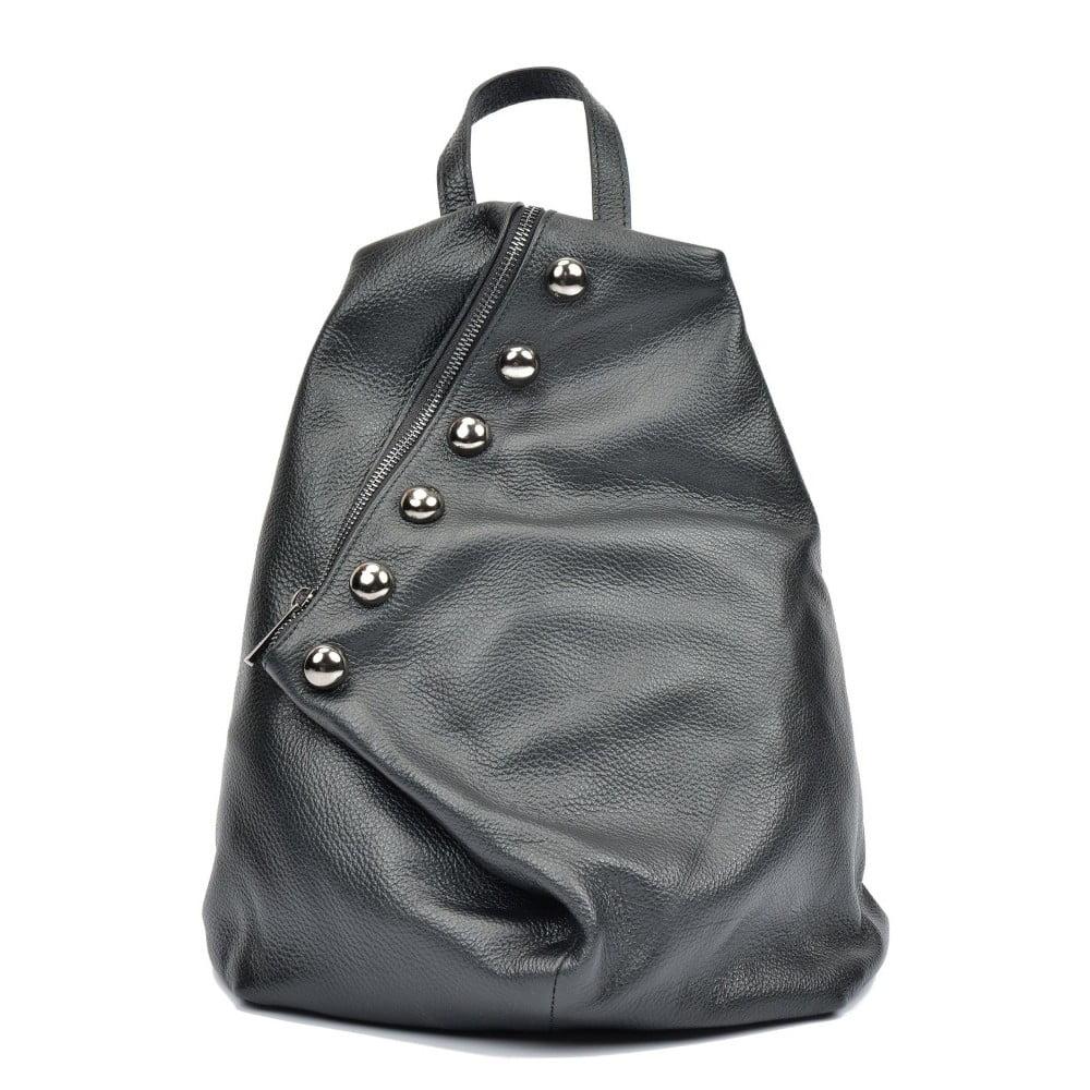 41c37e6aba Černý kožený batoh Luisa Vannini Simona