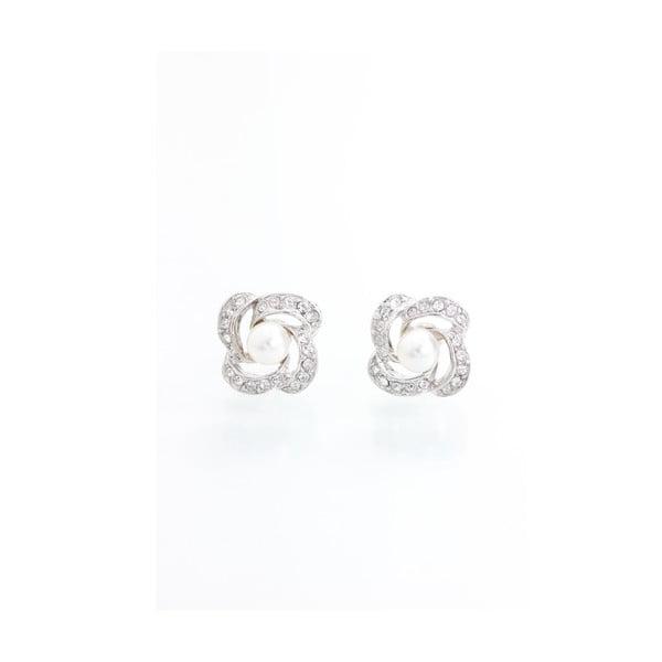 Maia ezüstszínű fülbevaló Swarovski Elements kristályokkal - Laura Bruni