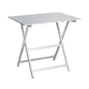 Bílý skládací stůl z bukového dřeva Valdomo, 60x80cm