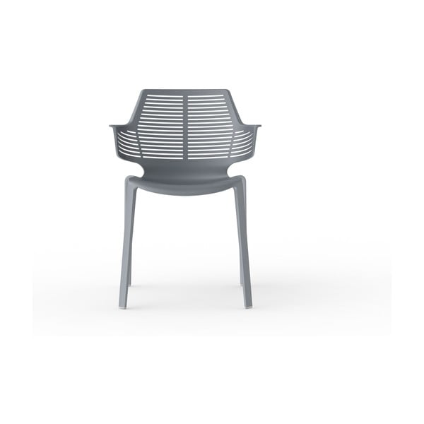 Set 2 scaune de grădină Resol Ikona, gri închis