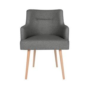 Tmavě šedá jídelní židle Cosmopolitan Design Venice