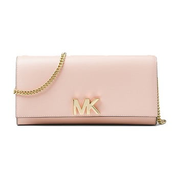 Geantă plic din piele Michael Kors Mott roz deschis
