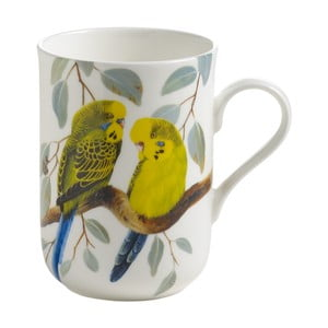 Hrnek z kostního porcelánu Maxwell & Williams Birds Budgerigars, 330 ml