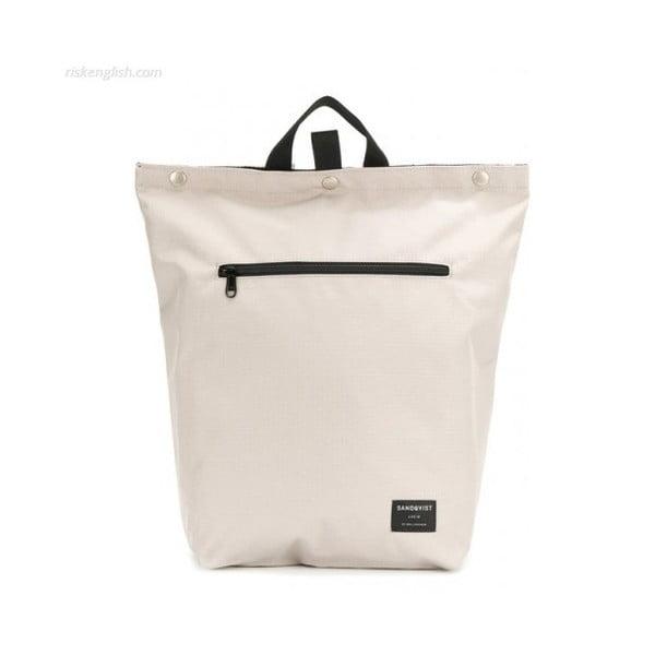Světle šedý batoh z ripstopu a Cordury Sandqvist Mio