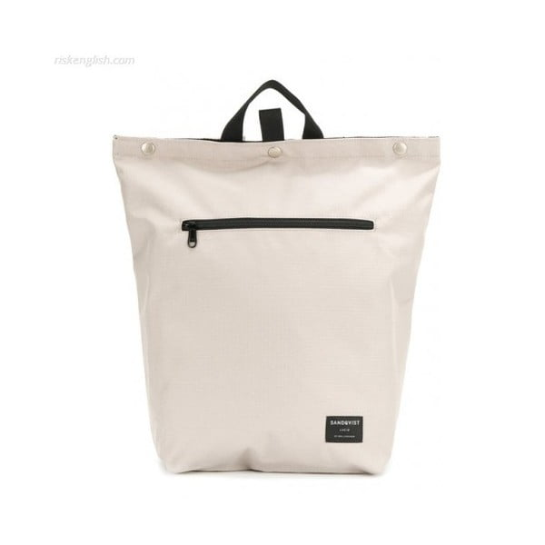 Svetlosivý batoh z ripstop a Cordury Sandqvist Mio