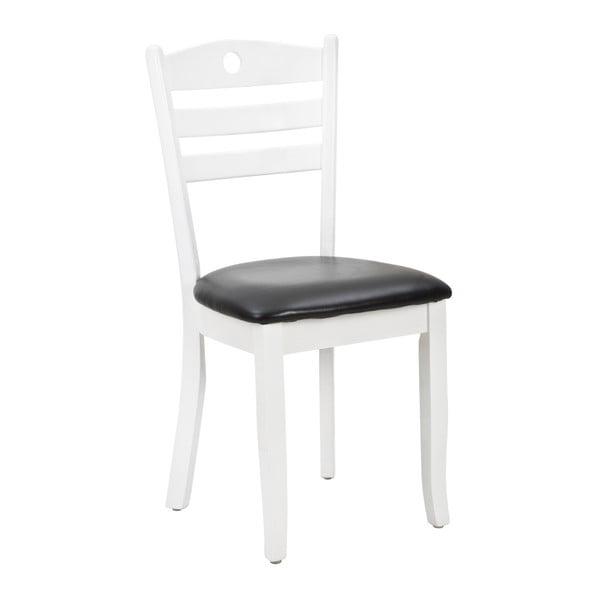 Bílo-šedá jídelní židle Mauro Ferretti Bianca