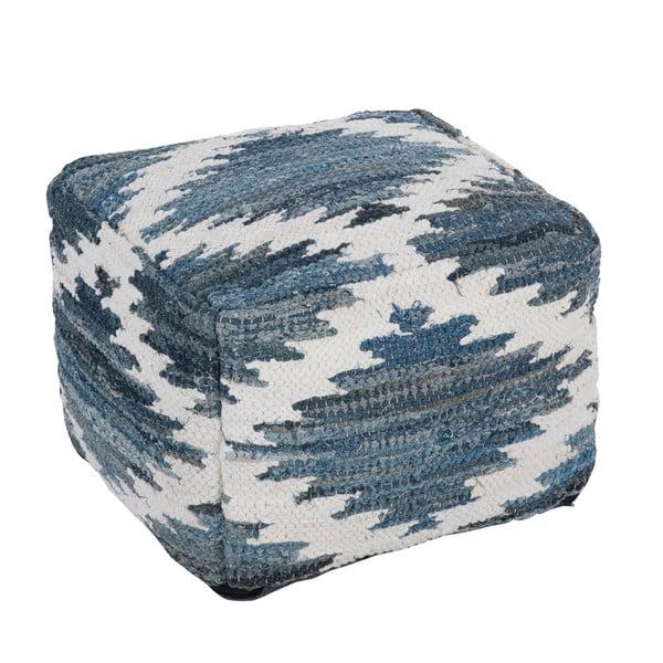 Puf Chindi, 50x50 cm, modrý