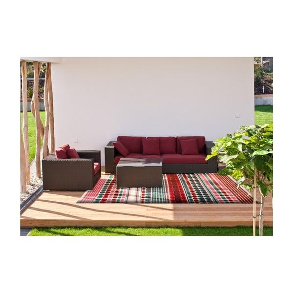 Covor reversibil potrivit și pentru exterior Green Decore Prime, 180 x 120 cm, roz - turcoaz