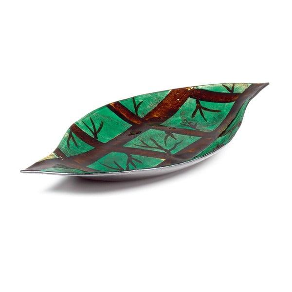 Skleněný tác Arizona Leaf