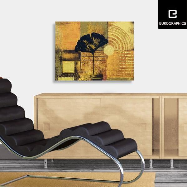 Obraz na plátně Abstract Ginkgo Leaf  60x80 cm