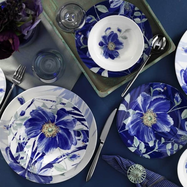 24-częściowy zestaw talerzy porcelanowych Kutahya Garetto