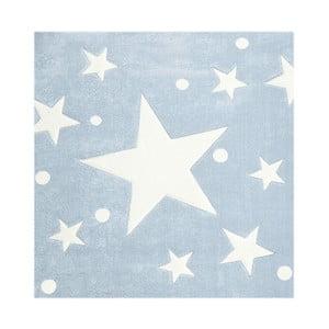Modrý dětský koberec Happy Rugs Star Constellation, 140x140cm