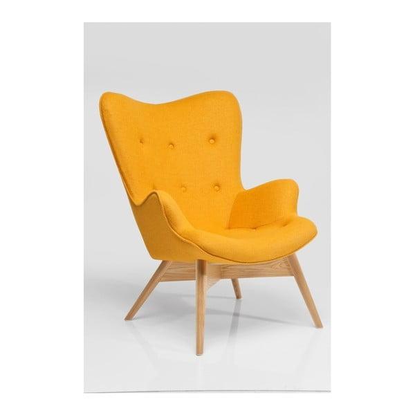 Žluté křeslo Kare Design Angels Wings