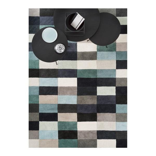 Vlněný koberec Linie Design Romina Aqua, 170x240 cm