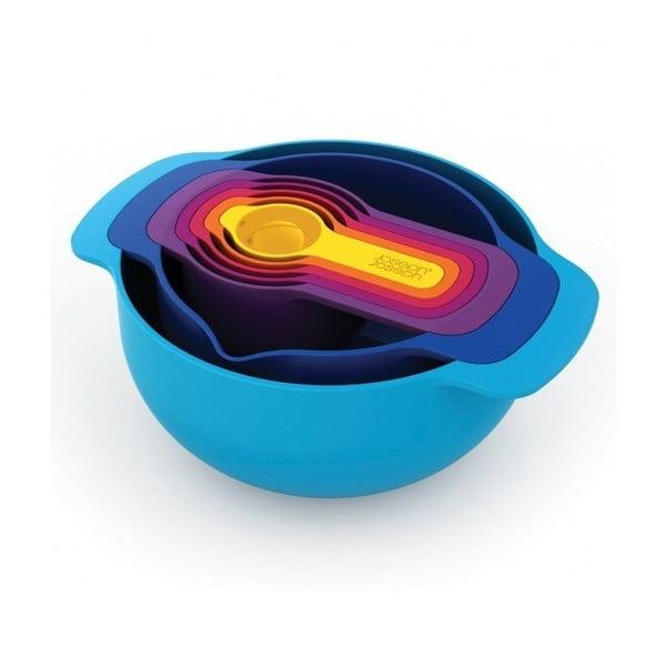 7 db-os kék univerzális tál készlet - Joseph Joseph