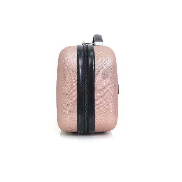 Světle růžové malé příruční zavazadlo Hero Sebastian,