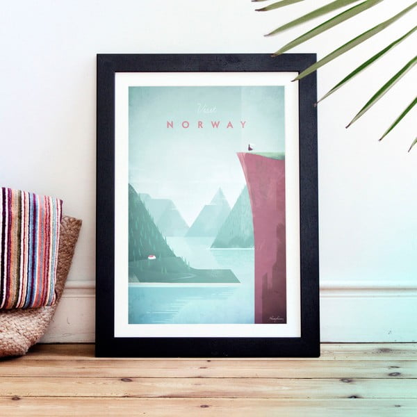 Plakát Travelposter Norway, A2