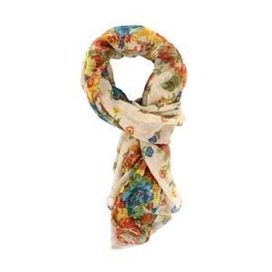 Šátek Flowers Beige