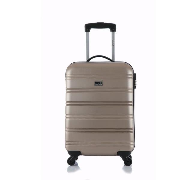 Béžový příruční kufr na kolečkách BluestarBilbao, 35l