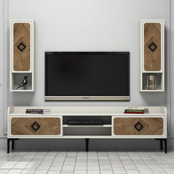 Krémový TV stolek Samba