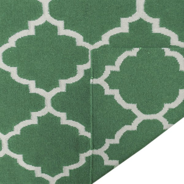 Zelený vlněný koberec Elizabeth, 300x200cm