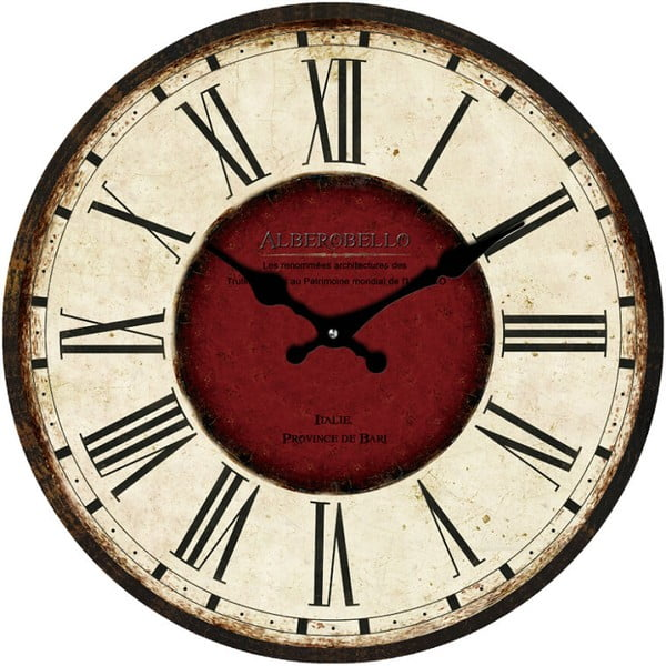 Skleněné hodiny Alberobello, 38 cm