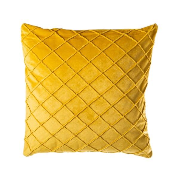 Żółta poduszka JAHU Alfa, 45x45 cm