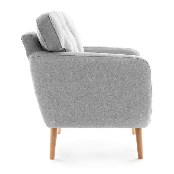 Canapea cu 3 locuri Vivonia Malva, gri deschis - piersică