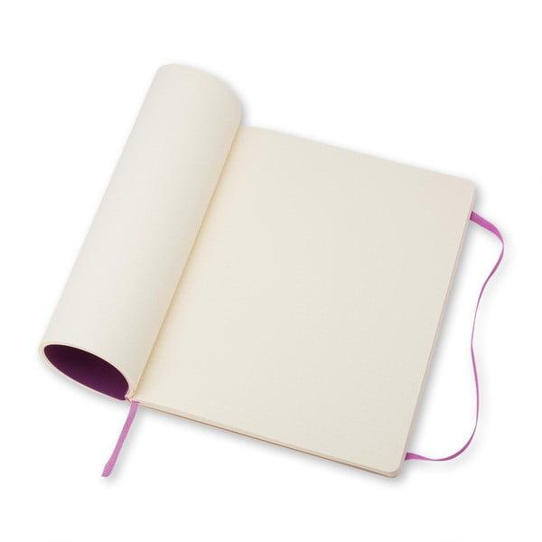 Extra velký růžový zápisník Moleskine Hard, tečkované linky