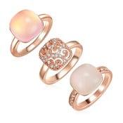 Sada 3 prstenů s krystaly Swarovski Lilly & Chloe Christia, vel.56