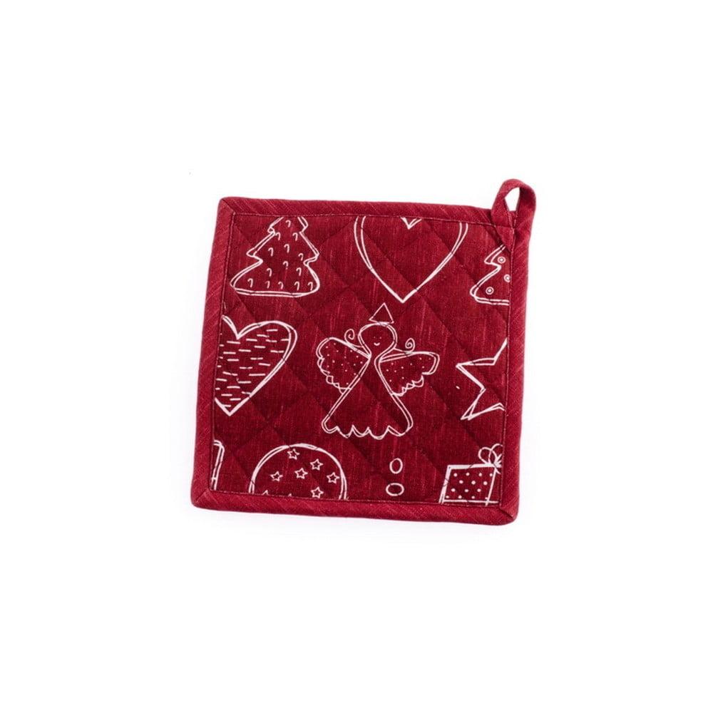 Červená kuchyňská chňapka Dakls, 20 x 20 cm