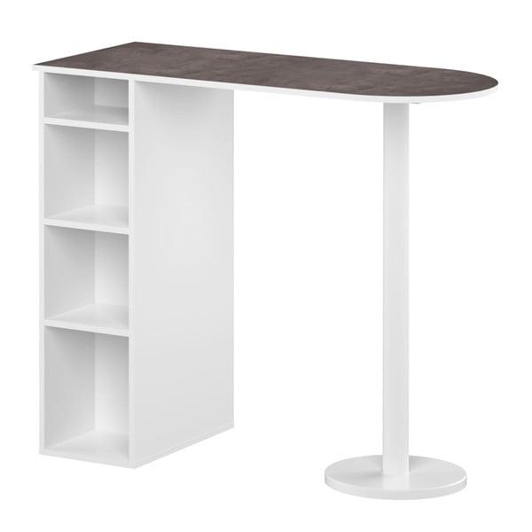 Bílý jídelní stůl s policemi TemaHome Gélas