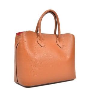 Koňakově hnědá kožená kabelka Isabella Rhea Shopping Cognac